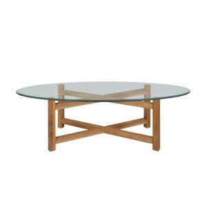 Melia Oval Glass Coffee Table