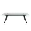 Monty Clear Glass Coffee Table & Black Legs