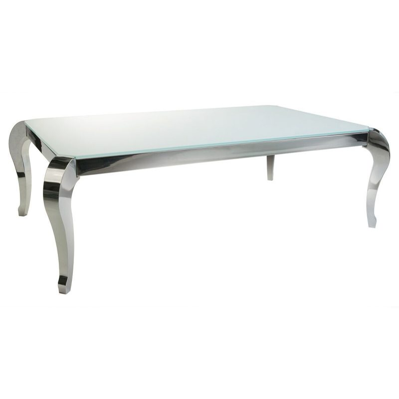 Moulin White Glass Coffee Table