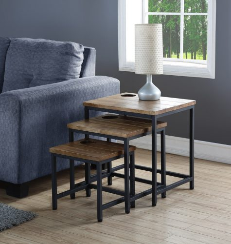 Winston nest of tables industrial