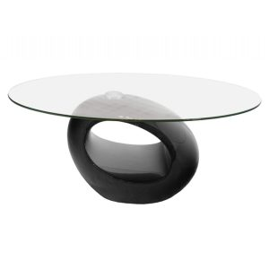 Neblus Black & Glass Coffee Table