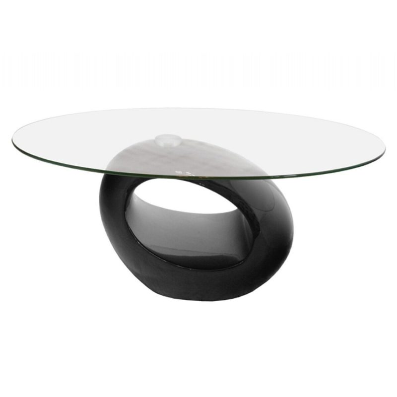 Neblus Black & Glass Coffee Table