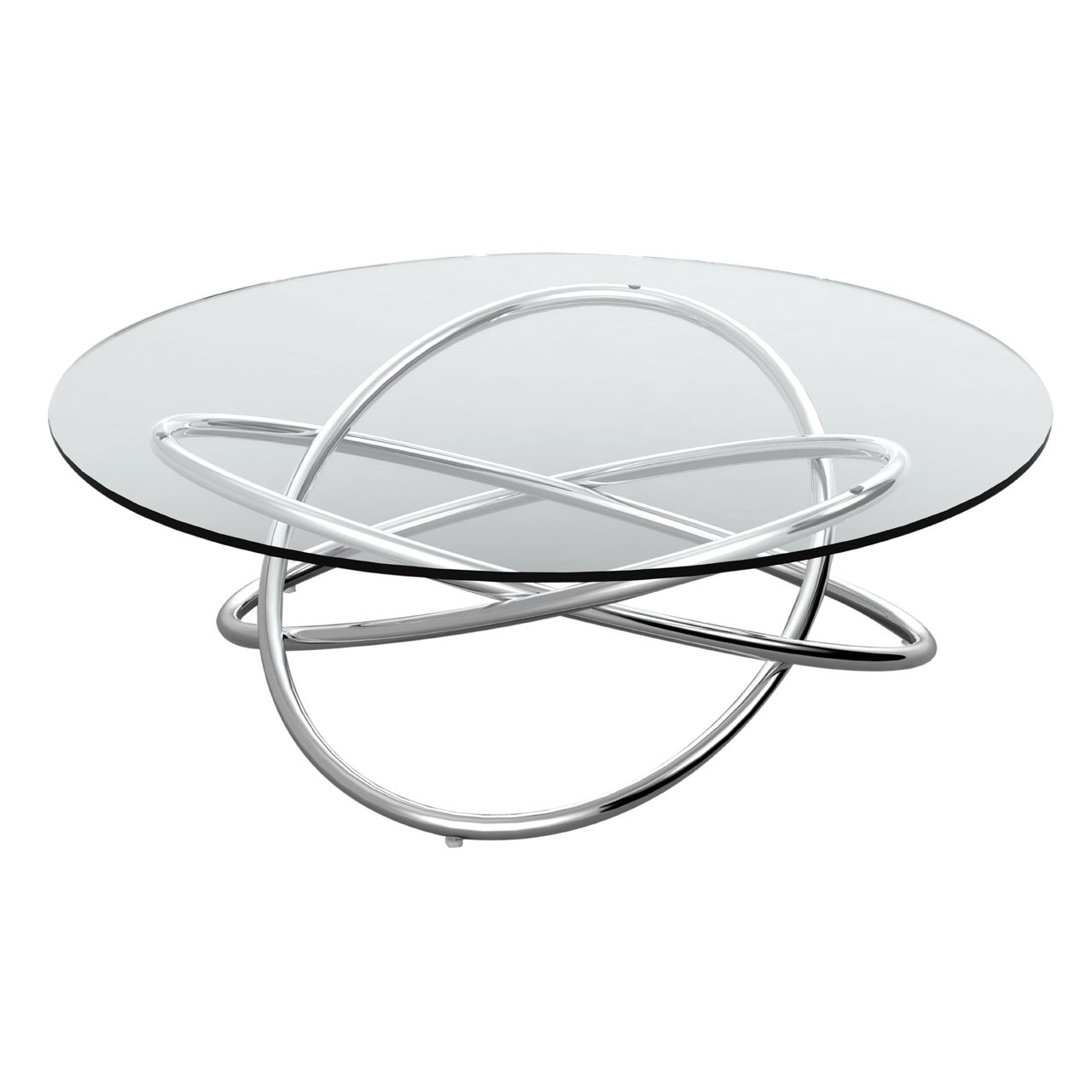 Orb Coffee Table Stainless Steel And Tempered Clear Glass