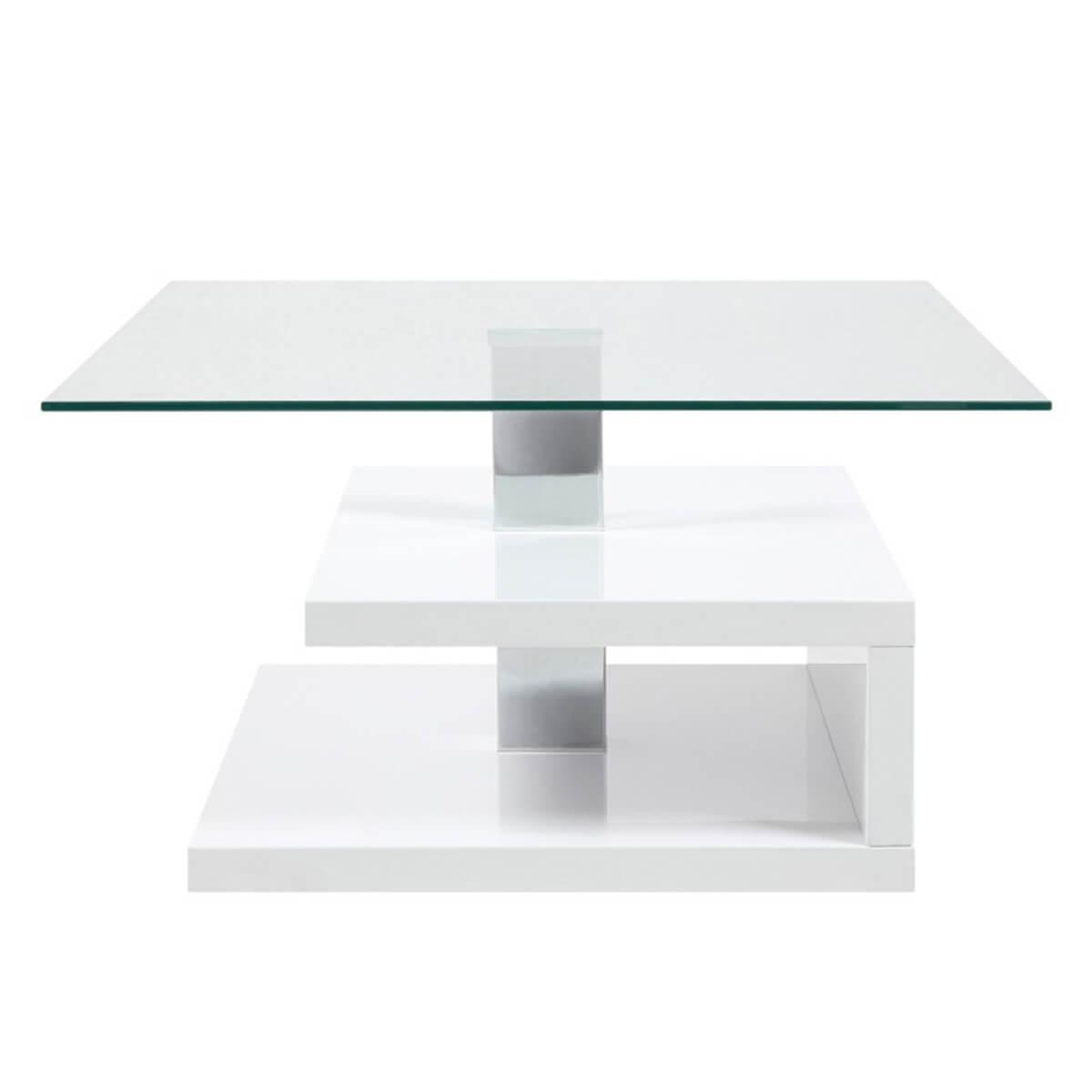 Paris White Gloss & Glass Coffee Table