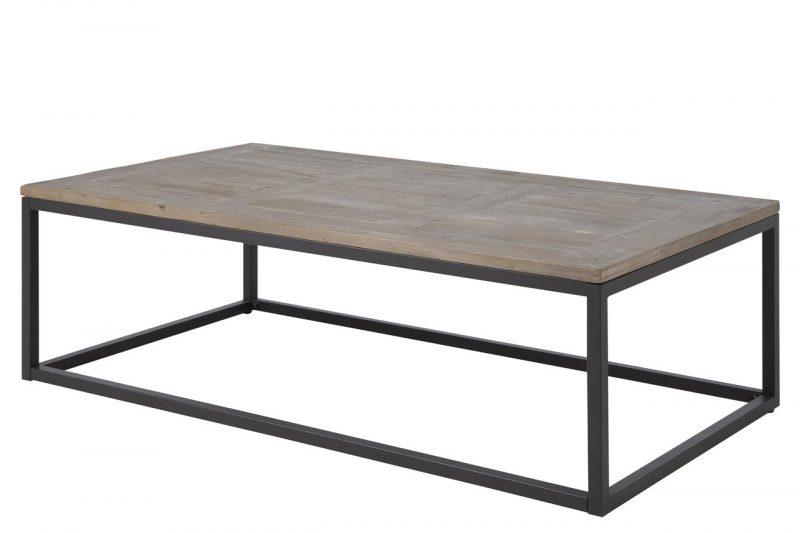Rockwood Coffee Table Solid Wood & Metal 1