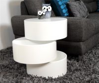Ruby White Rotating Storage Coffee Table 3