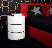 Ruby White Rotating Storage Coffee Table 5
