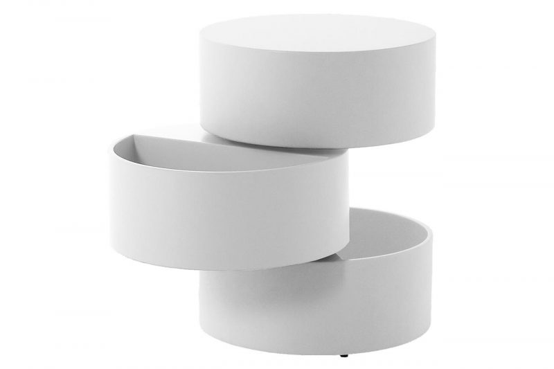 Ruby White Rotating Storage Coffee Table 1