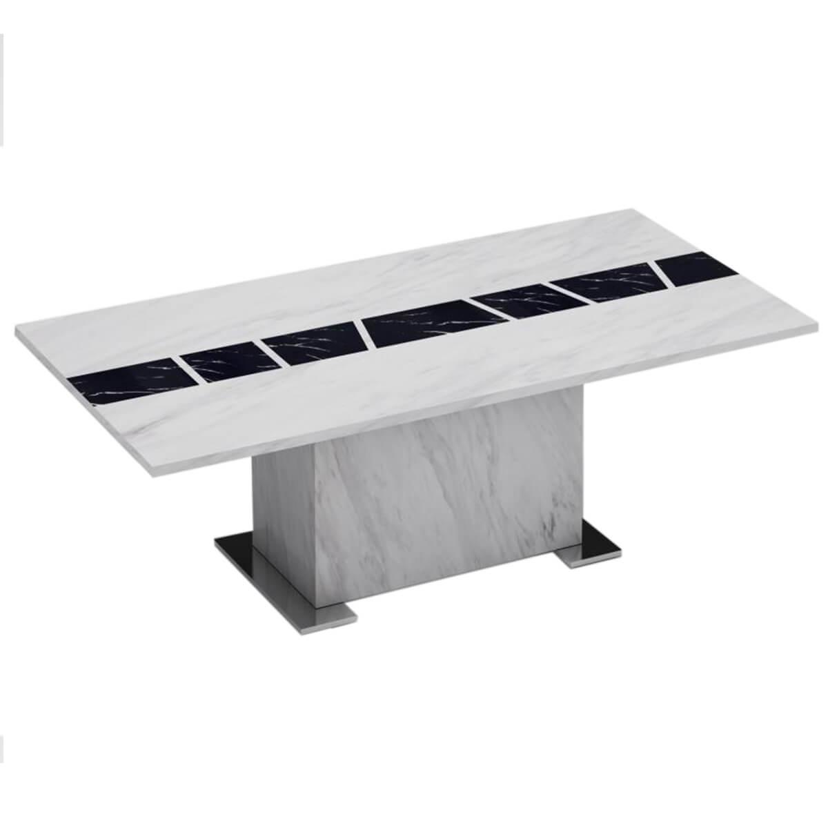Santos Rectangular White Marble Coffee Table Modern Marble FADS - Santos coffee table