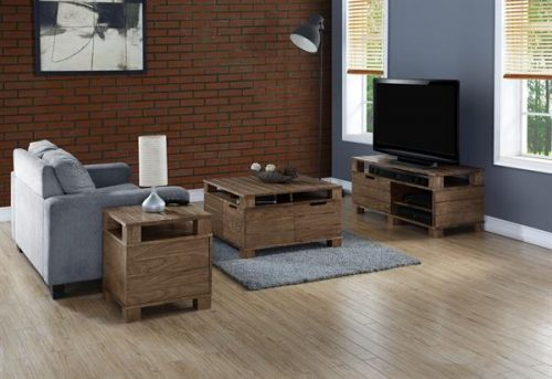Jual TV Stand Rustic Oak 2