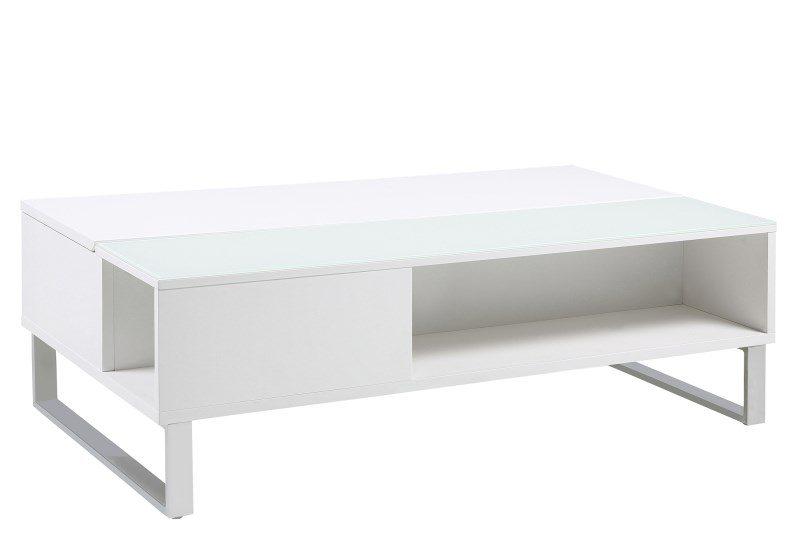 Simme High Gloss White Storage Coffee Table 1