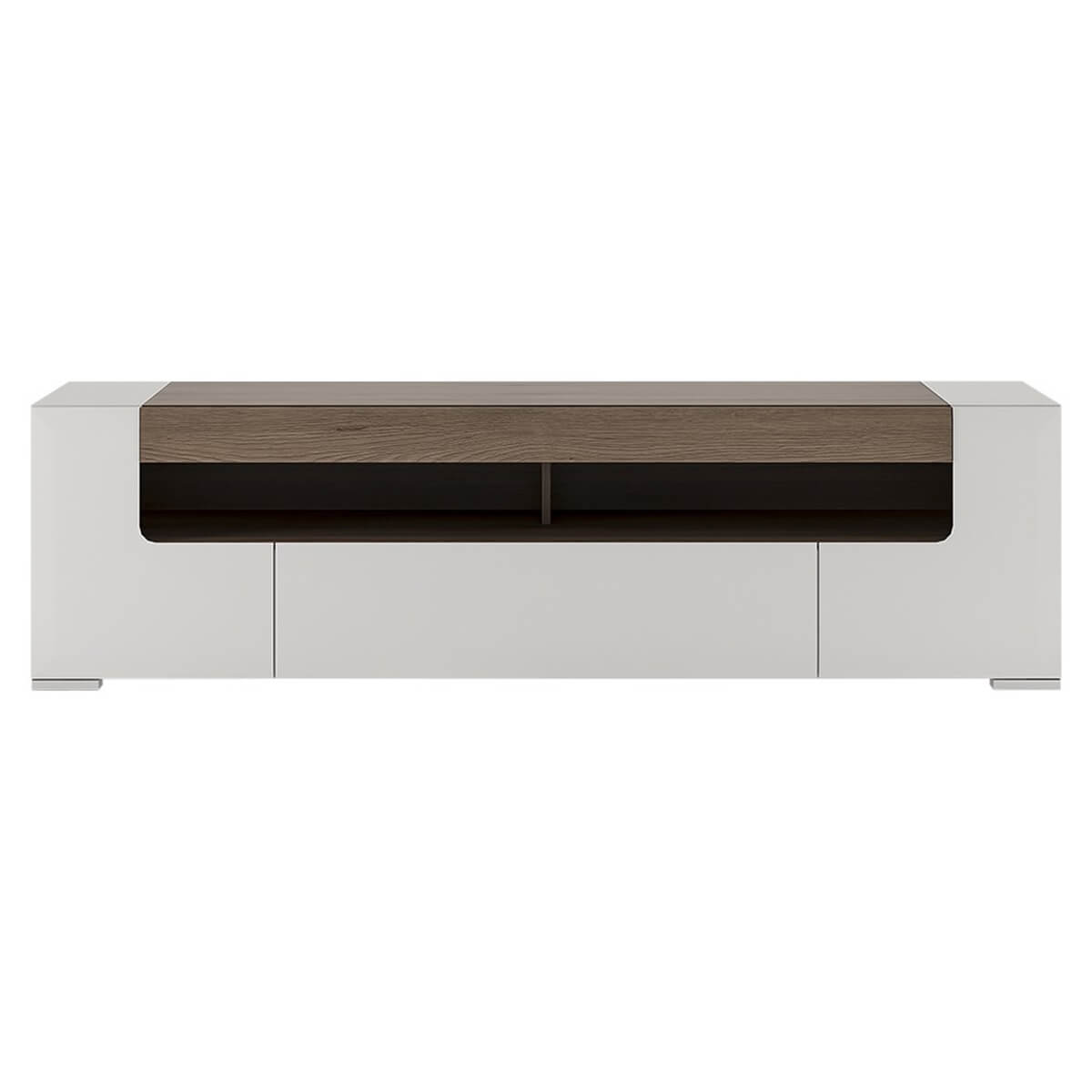 Laval Wide TV Unit 190cm White High Gloss