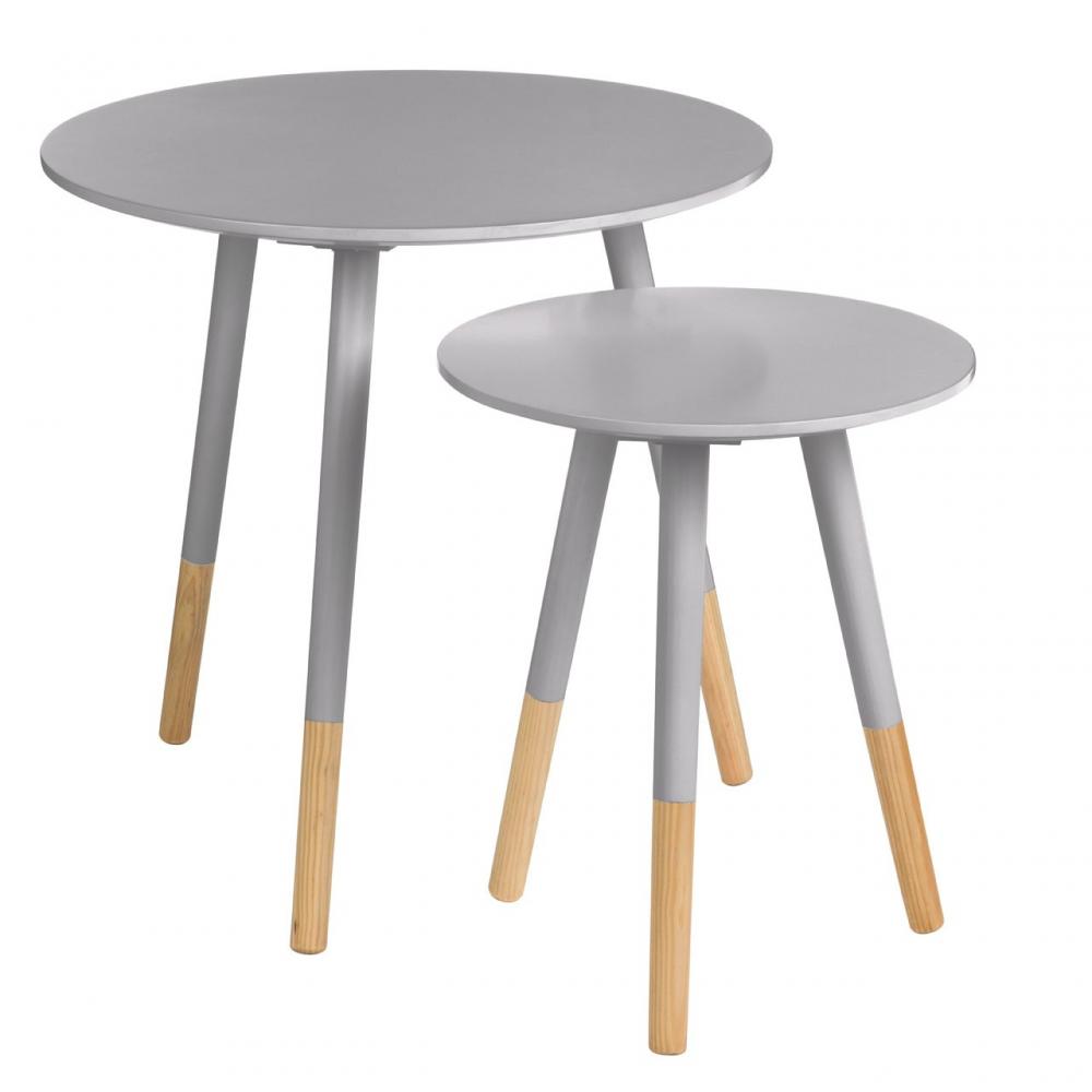 Viborg Set of 2 Grey Side Tables