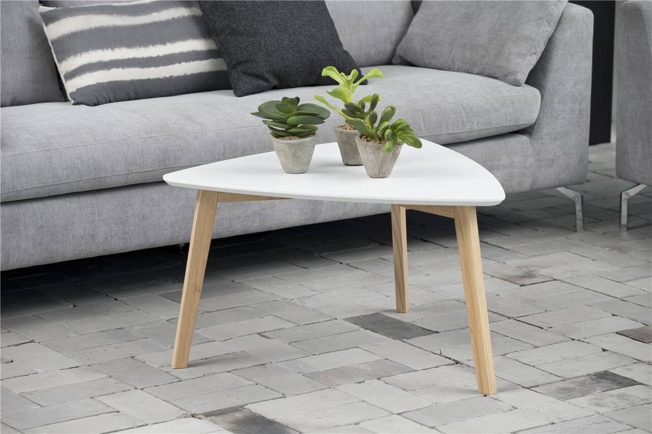 Vitis White Triangular Coffee Table 1