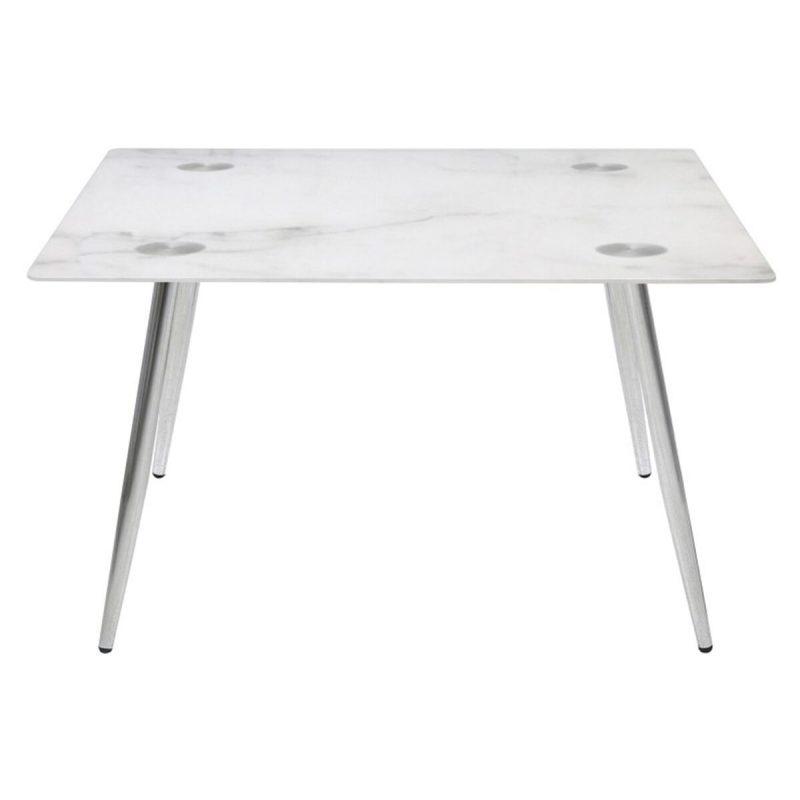 Wilma Square Glass Marble Effect Coffee Table