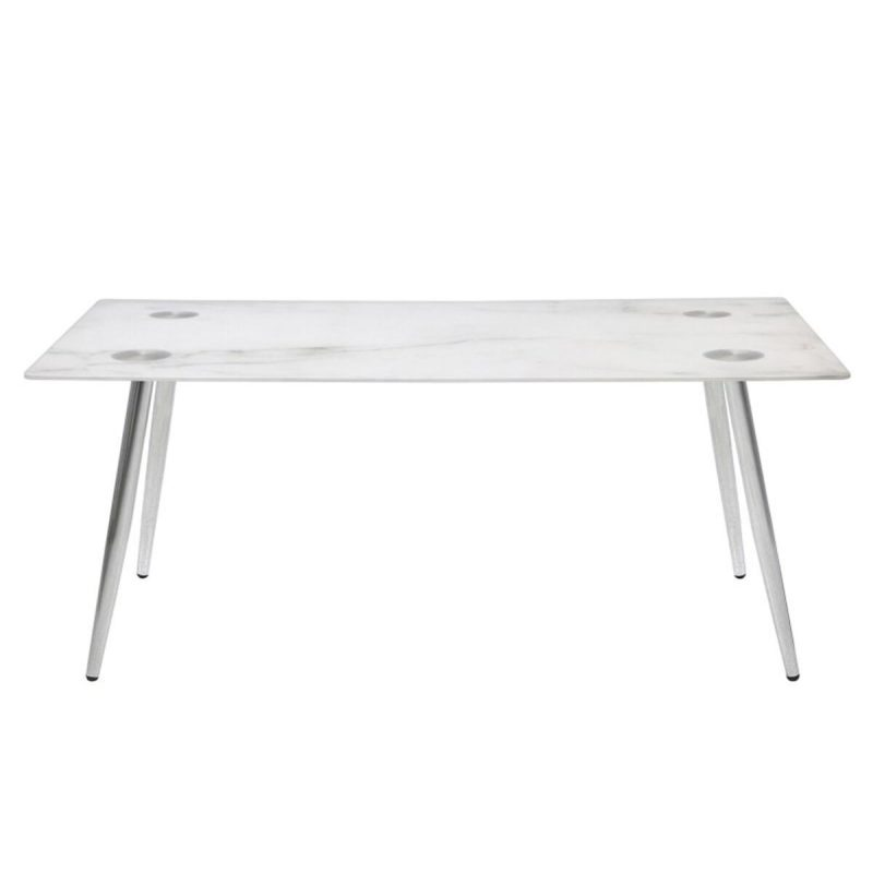 Wilma Rectangular Marble Effect Coffee Table