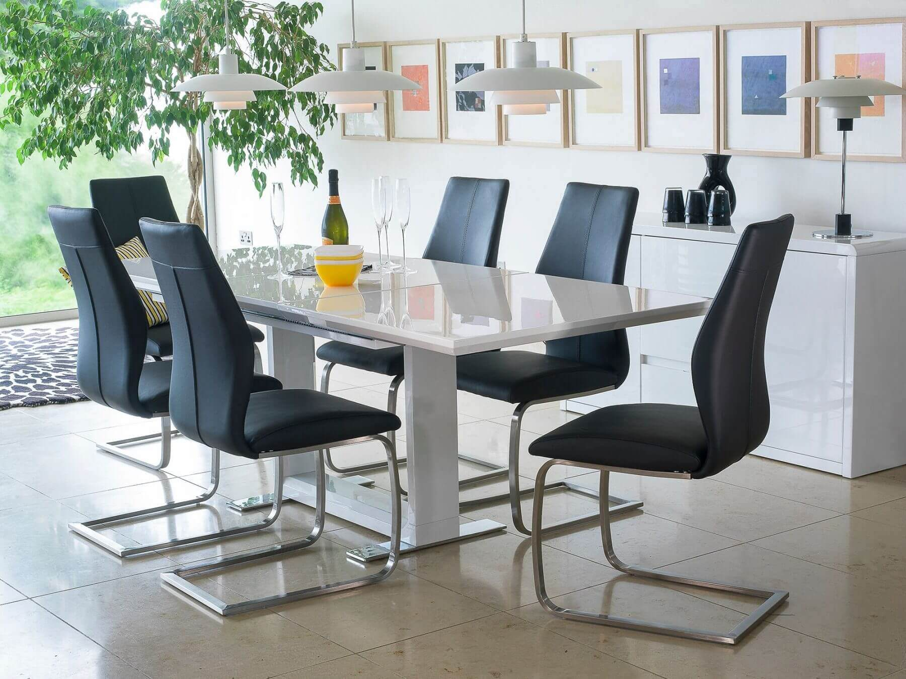 Allure Extending White Dining Table 6