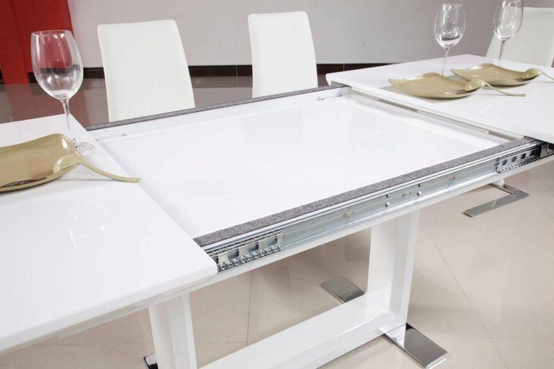 Allure Extending White Dining Table 5