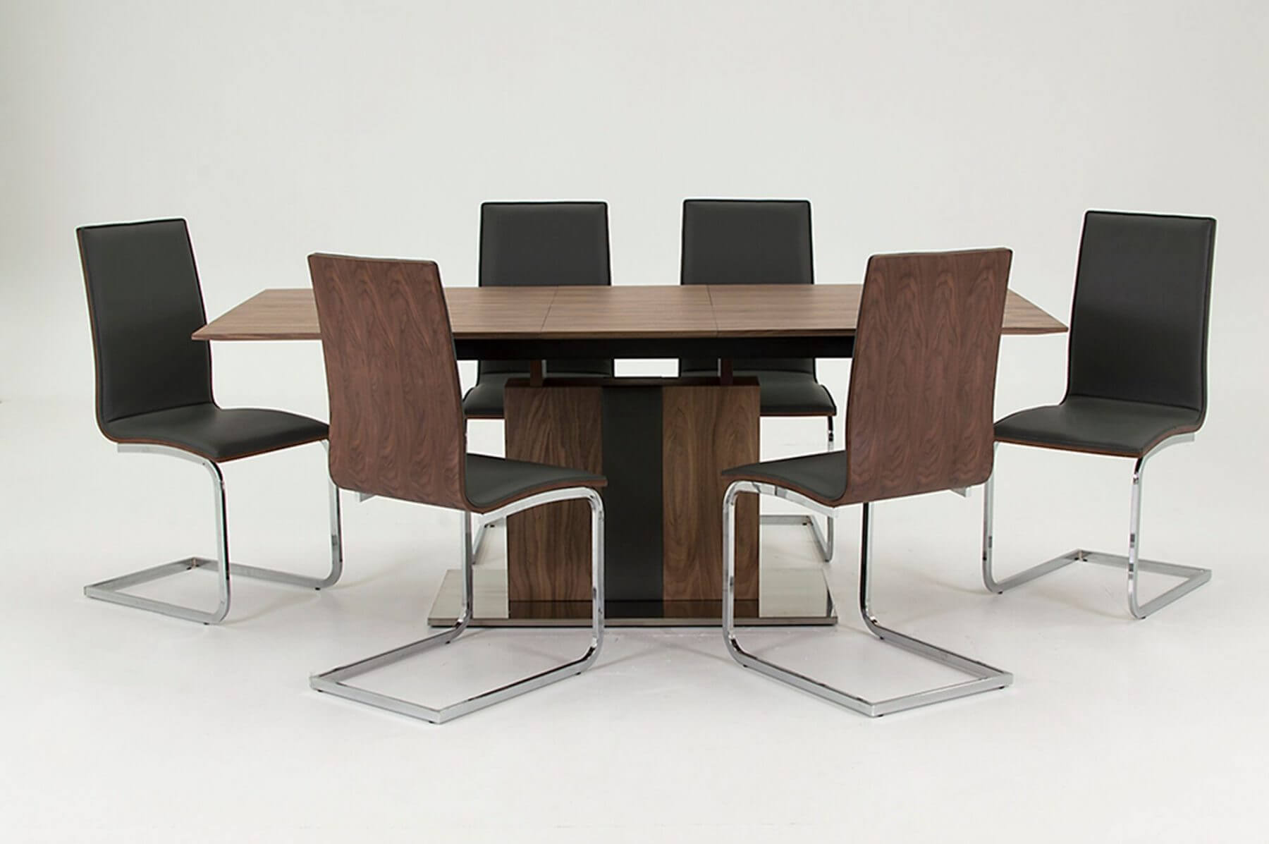 Almara Walnut Extending Dining Table 6