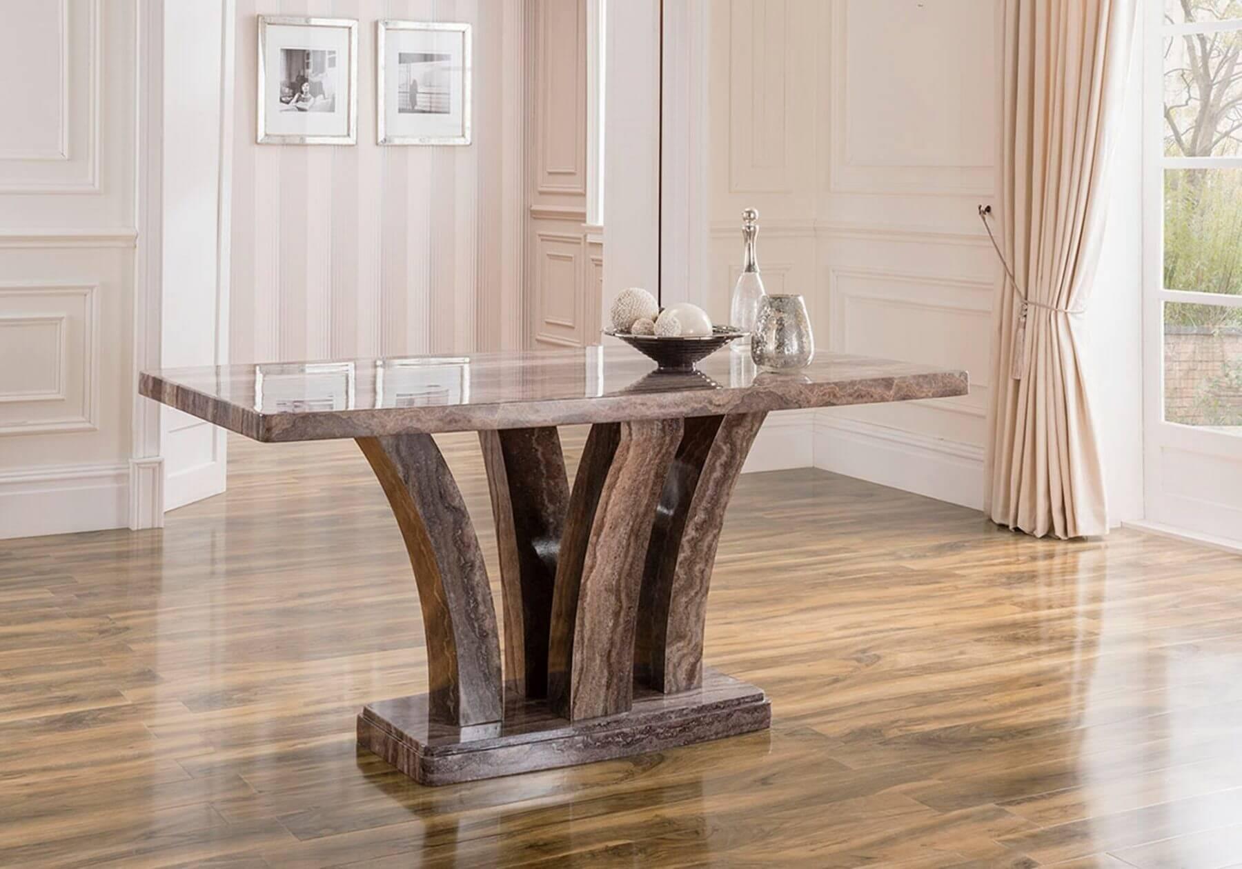 Amalfi Pearl Grey 160cm Dining Table