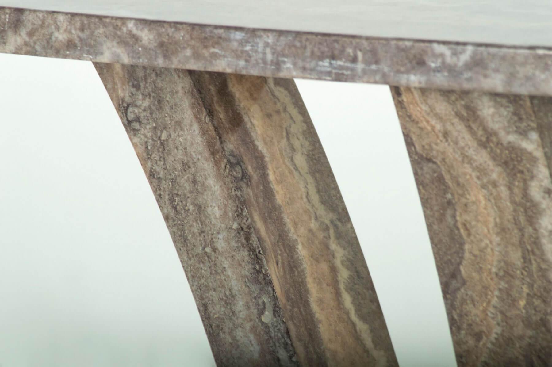 Amalfi Pearl Grey 160cm Dining Table 8