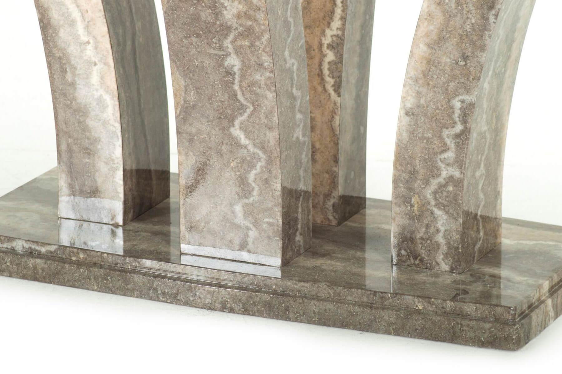 Amalfi Pearl Grey 160cm Dining Table 9