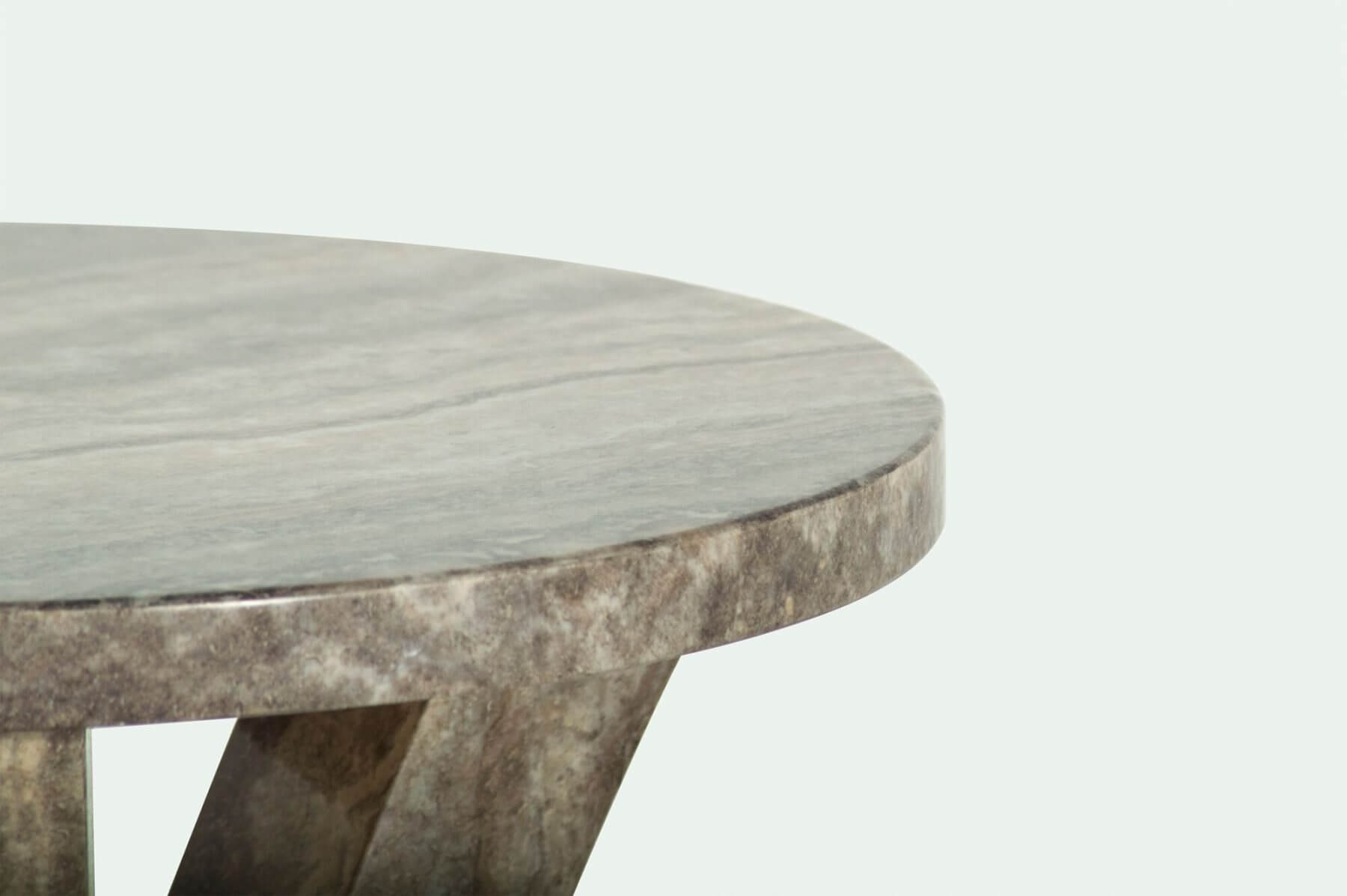 Amalfi Round Marble Dining Table Grey 6