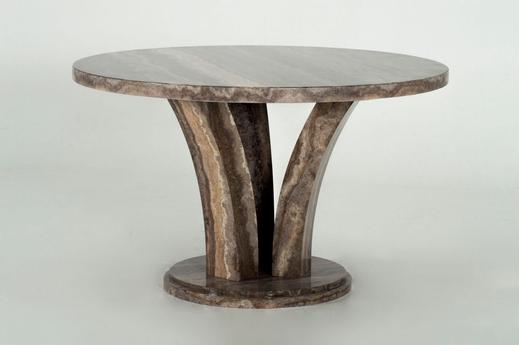 Amalfi Round Marble Dining Table Grey 2
