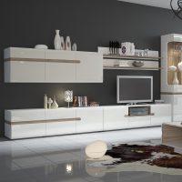 Mode TV Unit White Gloss with Shelf 3