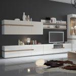 Mode Storage TV Unit White Gloss & Oak 3