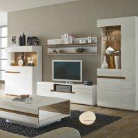 Mode TV Unit White Gloss with Shelf 5