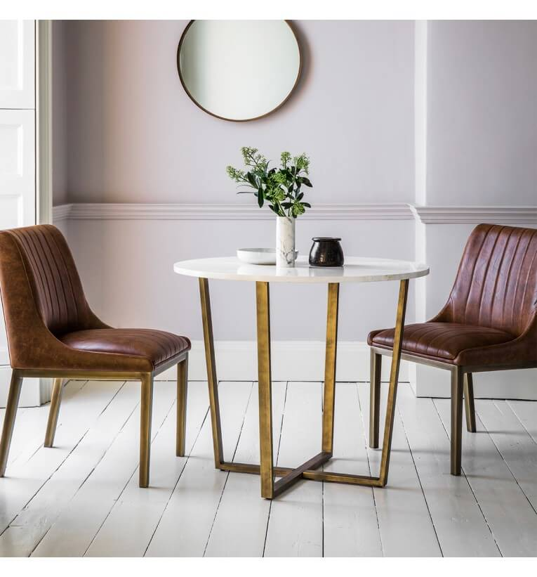 Arden Grace Chic White Round Dining Table 2
