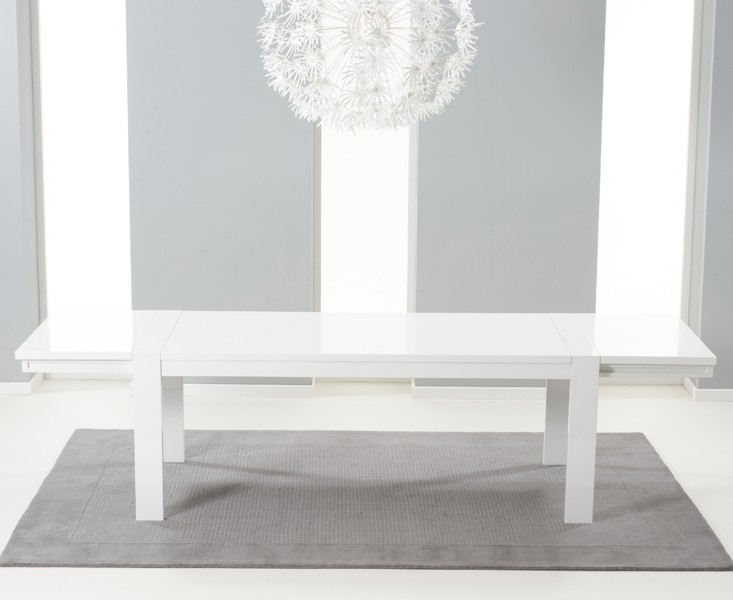 Florence Extending Dining Table White Gloss 2