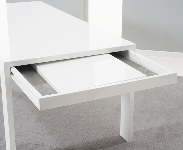 Florence Extending Dining Table White Gloss 3