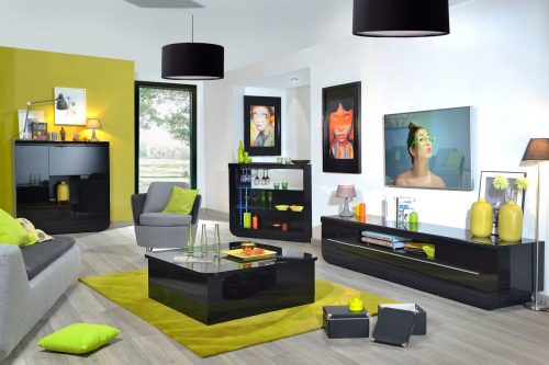 Floyd Black Gloss TV Unit 2