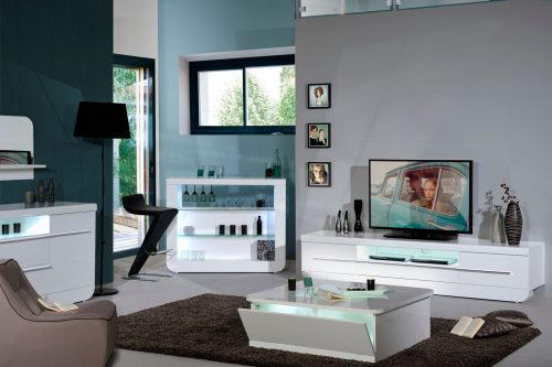 Floyd White High GLoss TV Unit 5