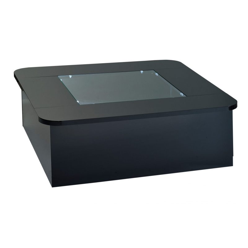 Floyd Coffee Table with Storage & Lights Black High Gloss