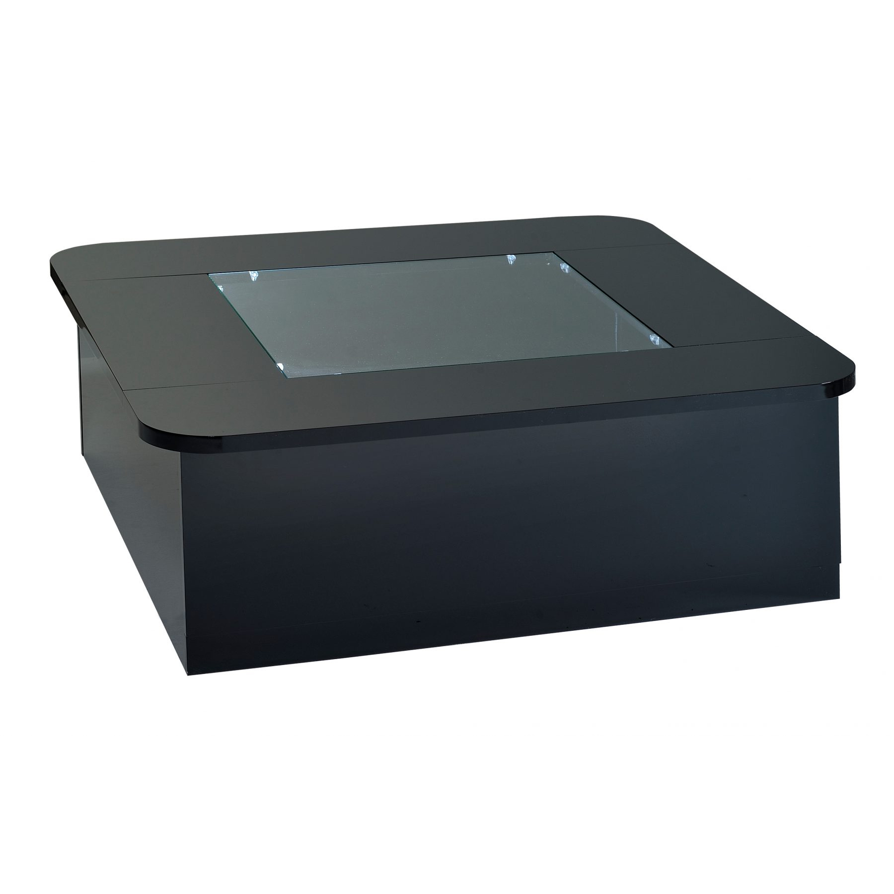 floyd coffee table with storage lights black high gloss