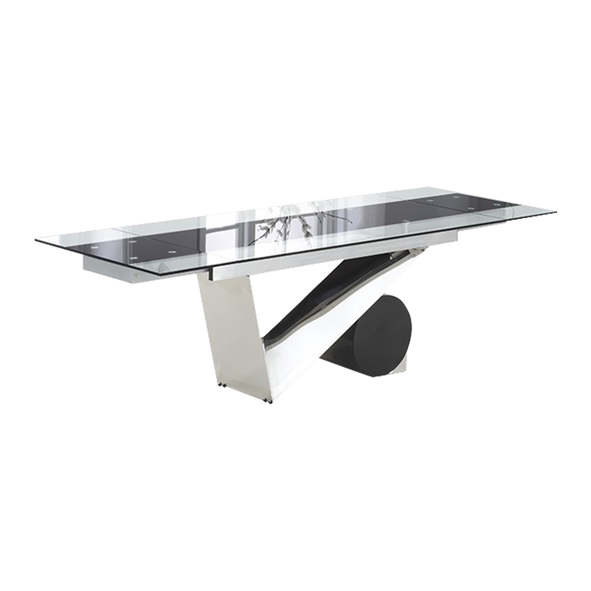 Garda Glass Extending Dining Table 8-12 Seater