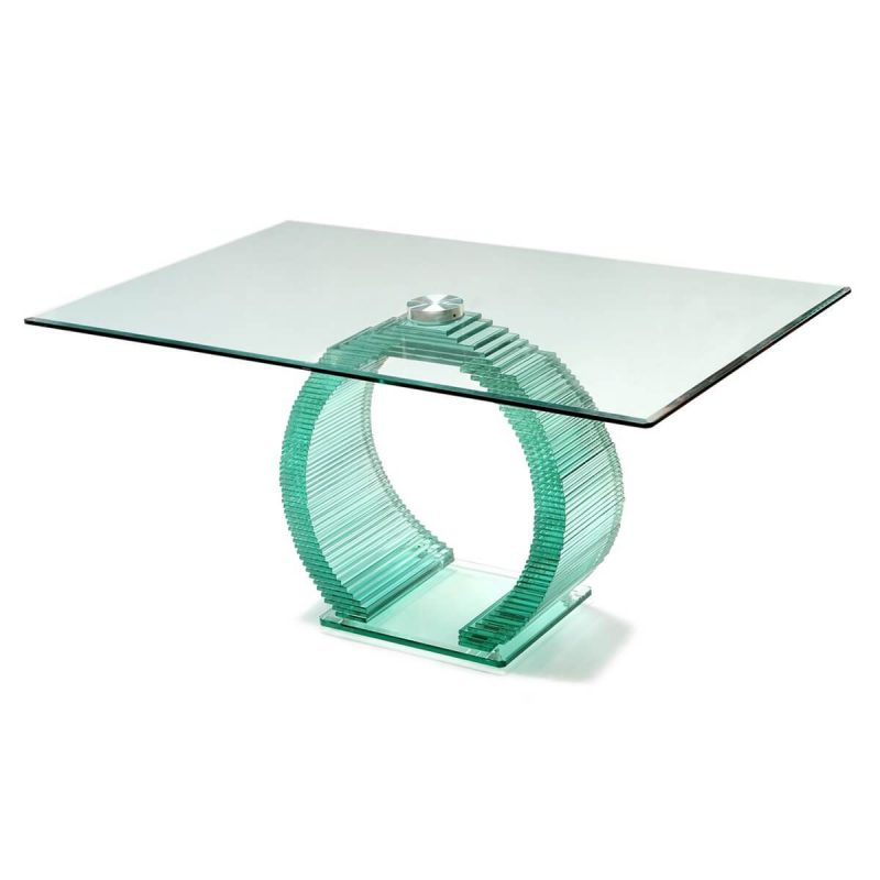 Ice All Glass Dining Table