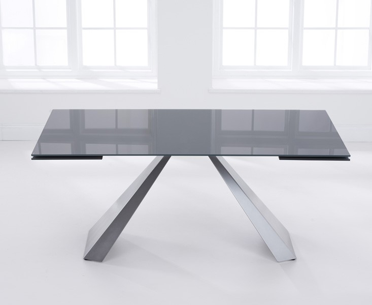 Lyon Extending Dark Grey Dining Table