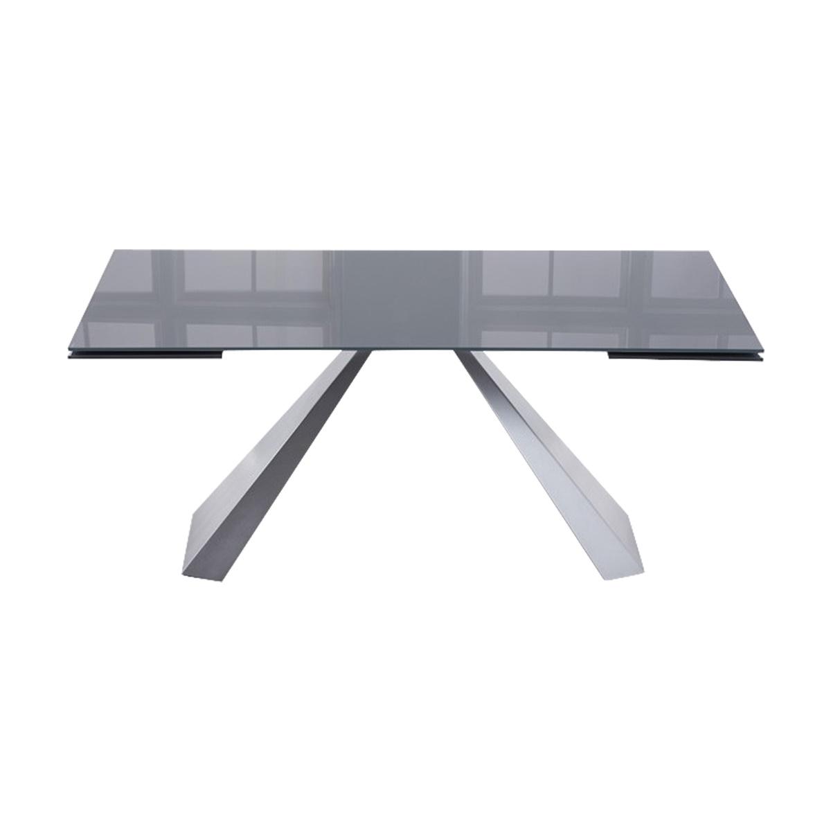 Lyon Dark Grey Glass Dining Table