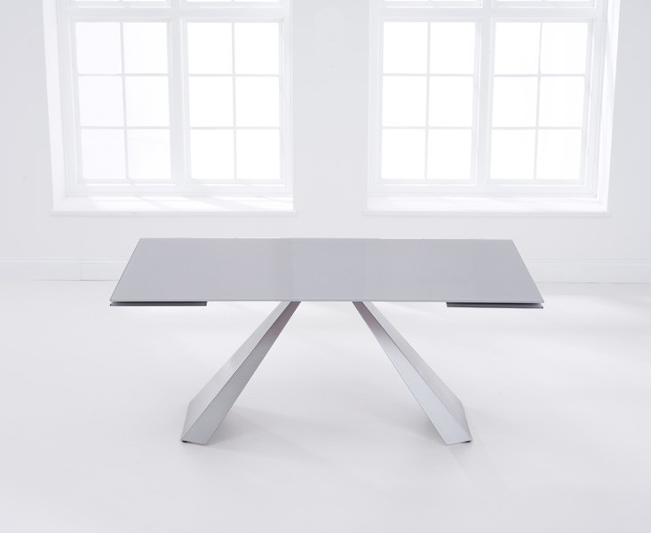 Lyon Light Grey Glass Dining Table 2
