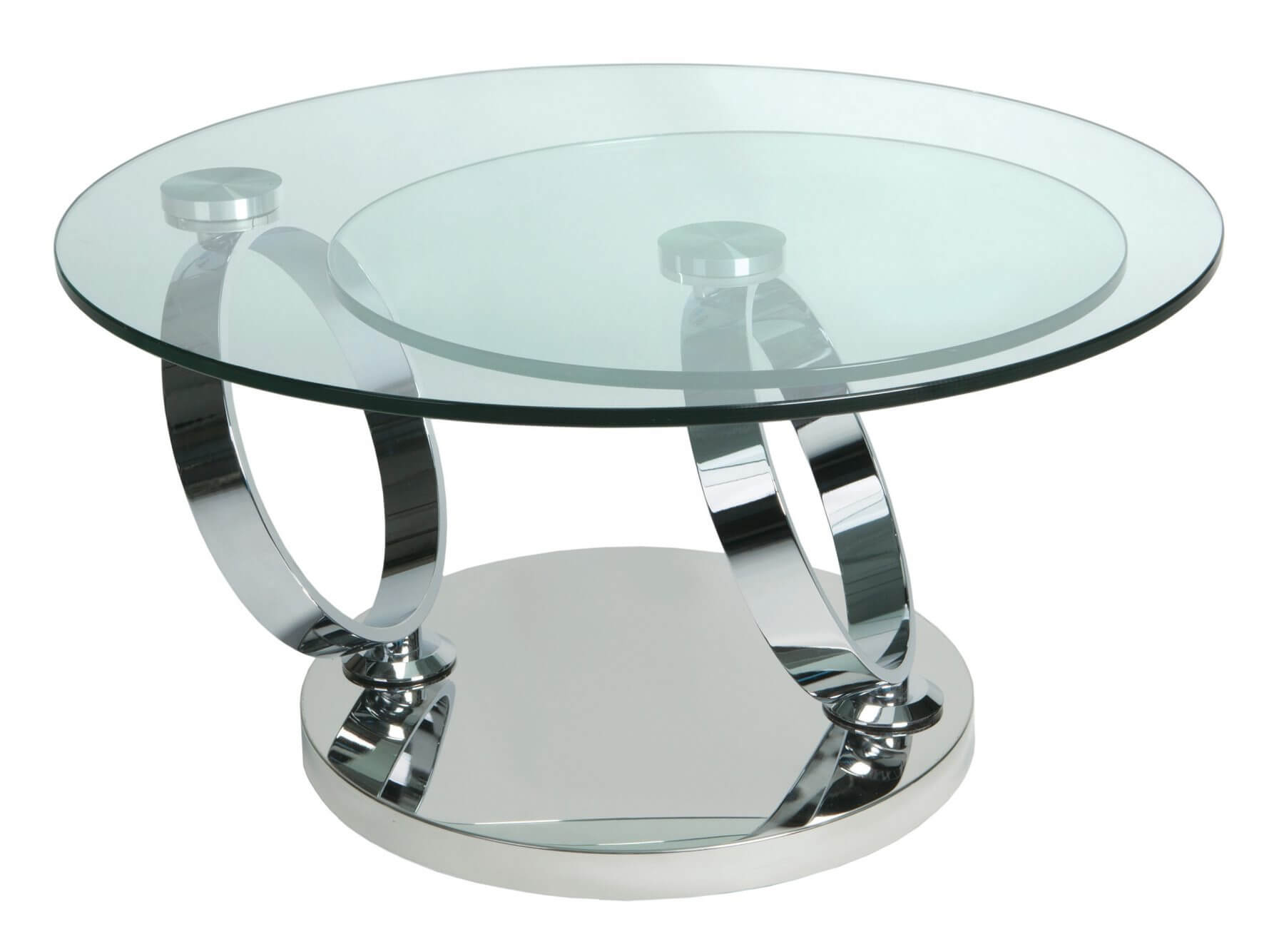 Rotating coffee table rascalartsnyc magic rotating glass coffee table stainless steel tables geotapseo Image collections