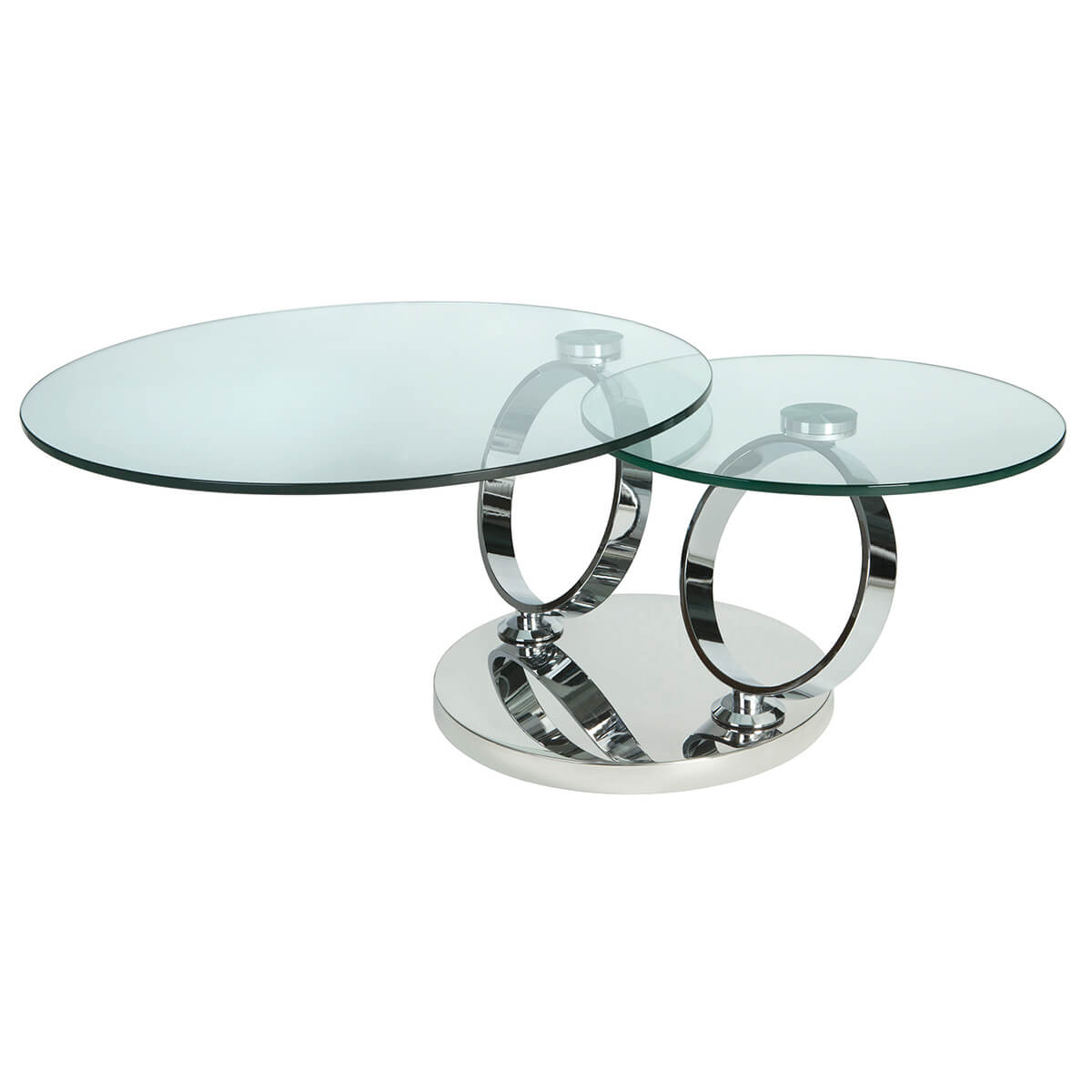 Magic rotating glass coffee table stainless steel coffee tables magic rotating glass coffee table geotapseo Image collections
