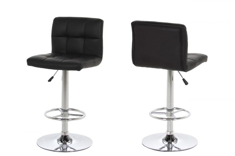 Milla Black Faux Leather Bar Stool