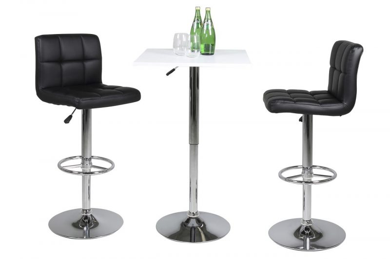 Milla Black Faux Leather Bar Stool 2