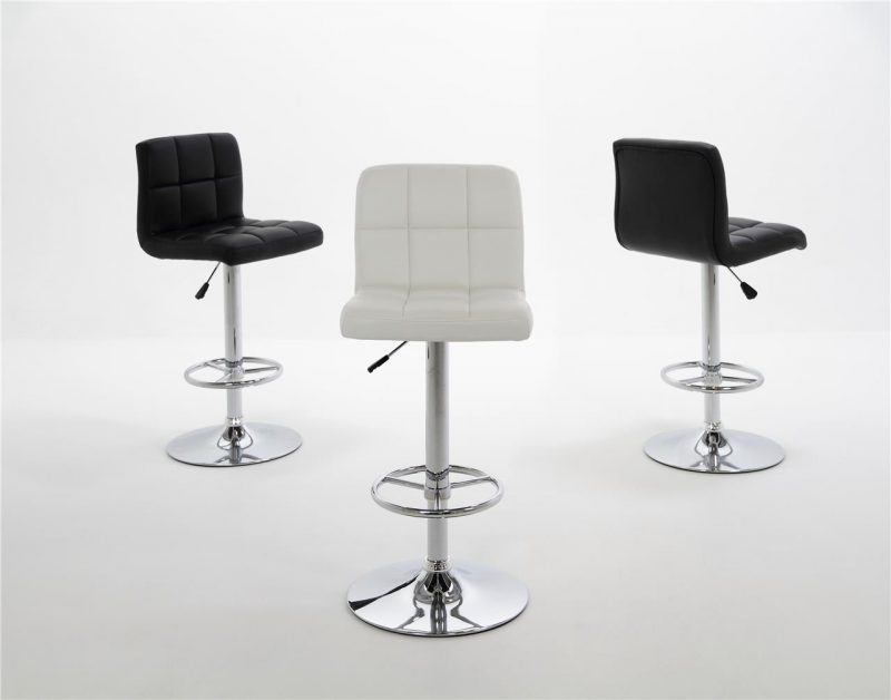 Milla Black Faux Leather Bar Stool 3