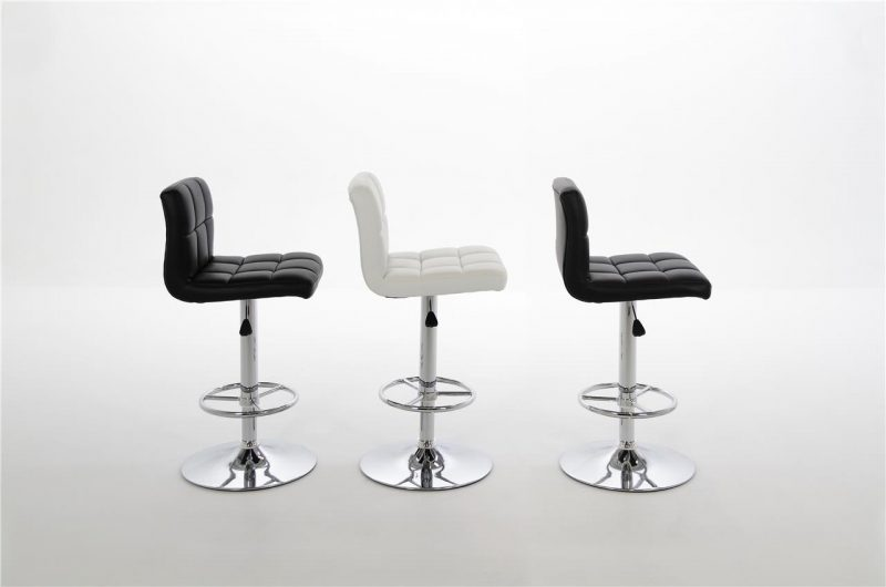 Milla Black Faux Leather Bar Stool 4