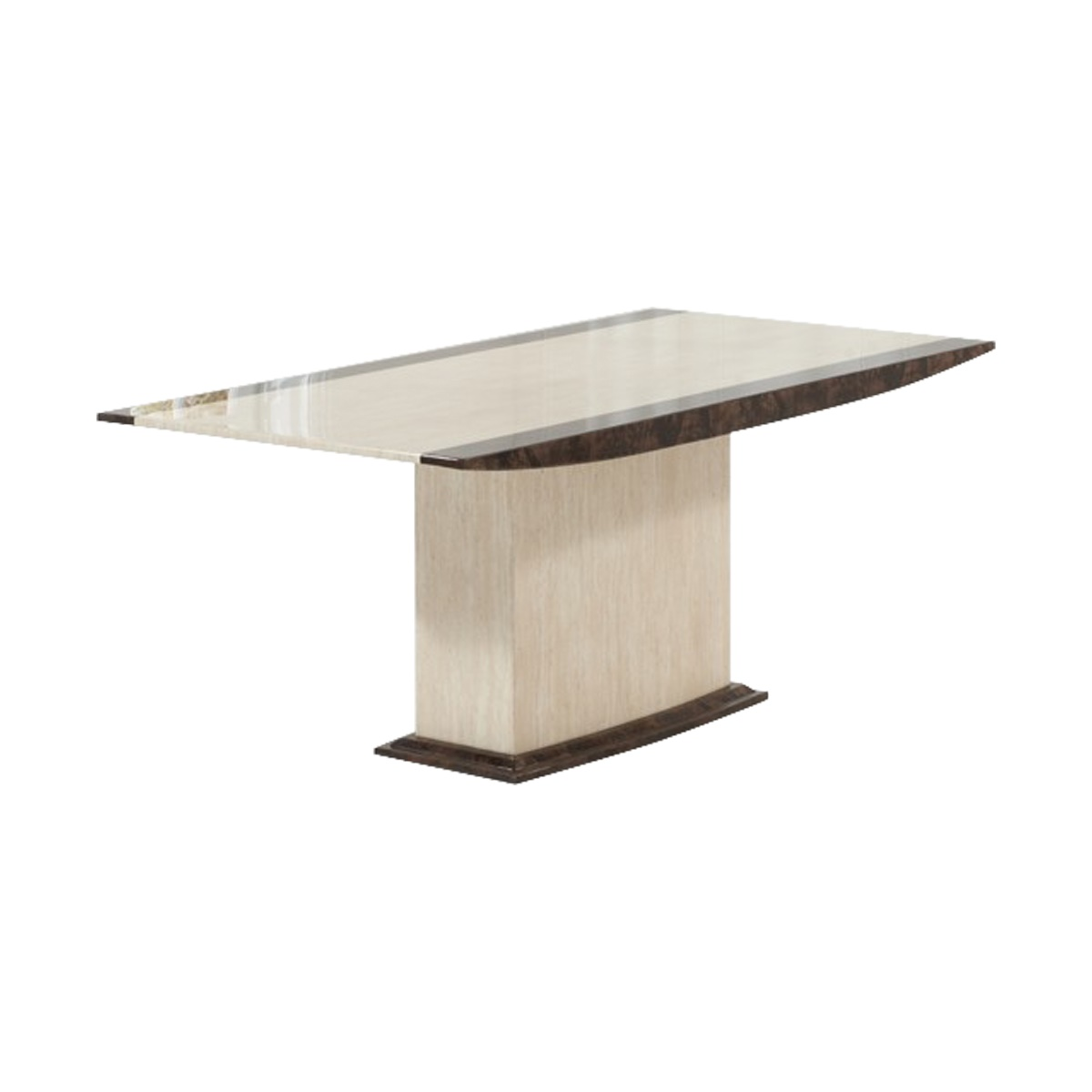Monaco Cream & Brown Marble Dining Table